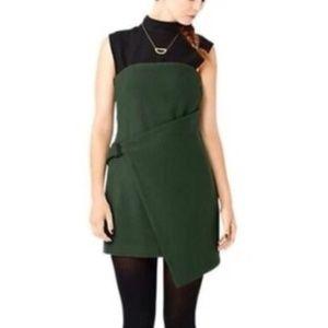 Kate Spade Saturday 10 Green Wool Wrap Dress